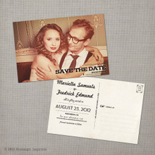Mariella - 4x6 Vintage Photo Save the Date Postcard card