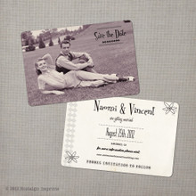 Naomi - 4x6 Vintage Photo Save the Date Card