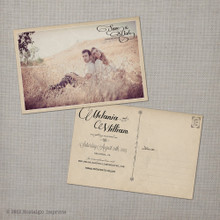 Melania - 4x6 Vintage Photo Save the Date Postcard card