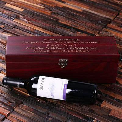Groomsmen Bridesmaid Gift Personalized 5 Piece Wine Case and Toolkit