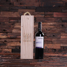 Groomsmen Bridesmaid Gift Personalized Single Bottle Wine Box