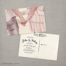 Julie - 4x6 Vintage Photo Save the Date Postcard card