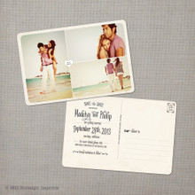 Madelyn 4 - 4x6 Vintage Photo Save the Date Postcard card
