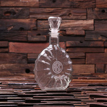 Groomsmen Bridesmaid Gift Personalized Engraved Decanter – Remy Round