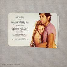 Nataly - 4x6 Vintage Photo Save the Date Card