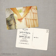 Tyah - 4x6 Vintage Photo Save the Date Postcard card