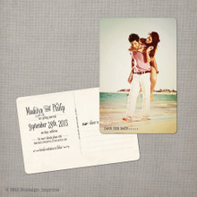 Madelyn 3 - 4x6 Vintage Photo Save the Date Postcard card