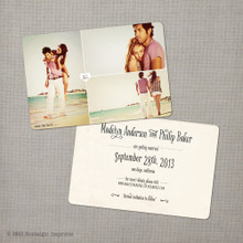 Madelyn 2 - 4x6 Vintage Photo Save the Date Card card