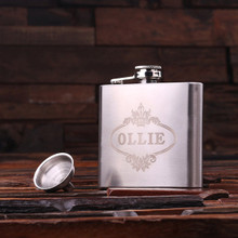 Groomsmen Bridesmaid Gift Personalized Stainless Steel Flask – 5 oz.
