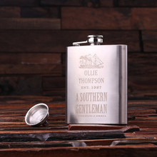 Groomsmen Bridesmaid Gift Personalized Stainless Steel Flask – 7 oz.