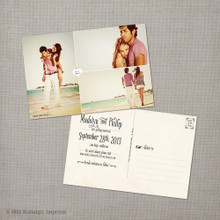 Madelyn 1 - 4x6 Vintage Photo Save the Date Postcard card