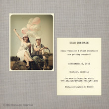 Daisy - 4.25x5.5 Vintage Photo Save the Date Card
