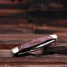 Groomsmen Bridesmaid Gift Personalized 3 Blade Pocket Knife