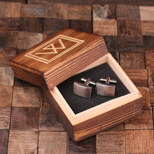 Groomsmen Bridesmaid Gift Personalized Engraved Cuff Links – Classic Monogram