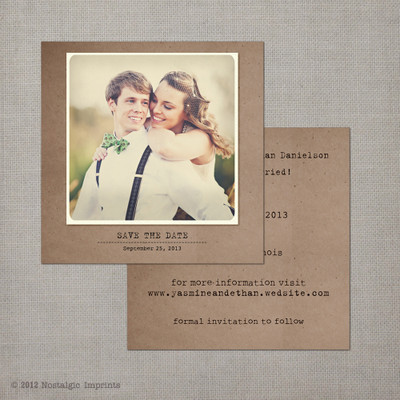 save the date card, vintage save the date card, save the date postcard
