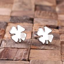 Groomsmen Bridesmaid Gift Personalized Engraved Cuff Links – Shamrock