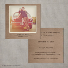 Natalie - 5.25x5.25 Vintage Photo Save the Date Card
