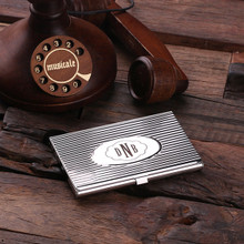 Groomsmen Bridesmaid Gift Personalized Stainless Steel Business Card Holder