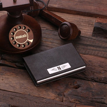 Groomsmen Bridesmaid Gift Personalized Leather Business Card Holder