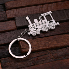 Groomsmen Bridesmaid Gift Personalized Polished Stainless Steel Key Chain – Train Conductor