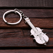 Groomsmen Bridesmaid Gift Personalized Polished Stainless Steel Key Chain – Violin