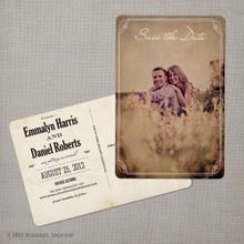 Emmalyn - 4x6 Vintage Photo Save the Date Postcard card