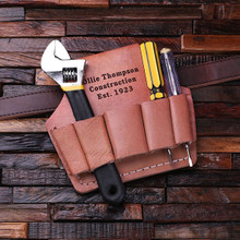 Groomsmen Bridesmaid Gift Engraved Leather Tool Belt Attachment