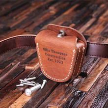 Groomsmen Bridesmaid Gift Engraved Leather Tool Belt Pouch