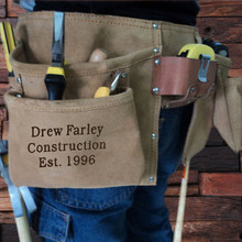 Groomsmen Bridesmaid Gift Engraved Suede Complete Tool Belt