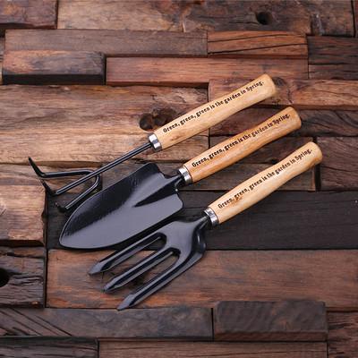 Groomsmen Bridesmaid Gift 3 pc Garden Tools Set
