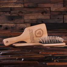 Groomsmen Bridesmaid Gift Wood Brush