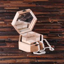 Groomsmen Bridesmaid Gift Nested Octagonal Keepsake Jewelry Set of 2