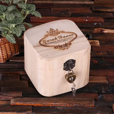 Groomsmen Bridesmaid Gift Treasure Trunk Box