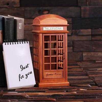 Groomsmen Bridesmaid Gift British Phone Booth Music Box