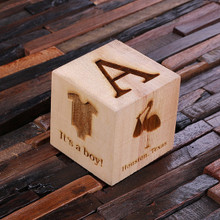 Groomsmen Bridesmaid Gift 3 in Cube Baby Block