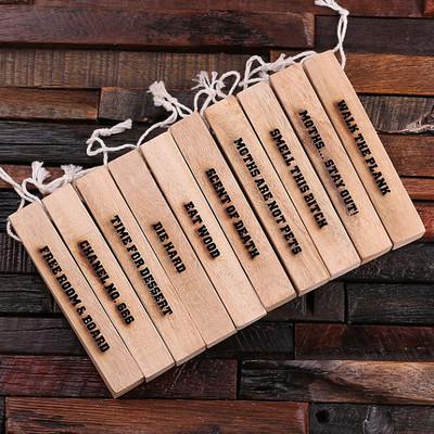 Groomsmen Bridesmaid Gift Camphor Wood Strips – 10 pcs
