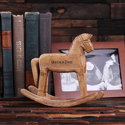 Groomsmen Bridesmaid Gift Rocking Horse – Small