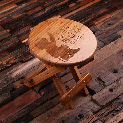 Groomsmen Bridesmaid Gift Wood Stool for Toddlers