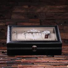 Groomsmen Bridesmaid Gift Watch Box – Plain Black