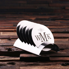 Groomsmen Bridesmaid Gift Round Stainless Steel Coasters
