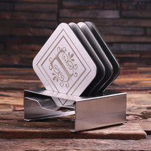 Groomsmen Bridesmaid Gift Stainless Steel Square Coasters