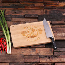 Groomsmen Bridesmaid Gift Bamboo Cutting Board – Family Seal, Monogram, Namesake (P00011)