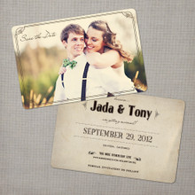 Jada - 4x6 Vintage Photo Save the Date Card