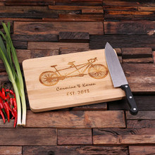 Groomsmen Bridesmaid Gift Bamboo Cutting Board – Family Seal, Monogram, Namesake (P00025)
