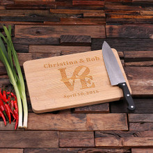 Groomsmen Bridesmaid Gift Bamboo Cutting Board – Family Seal, Monogram, Namesake (P00019)