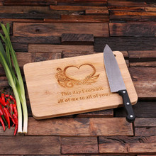 Groomsmen Bridesmaid Gift Bamboo Cutting Board – Family Seal, Monogram, Namesake (P00018)