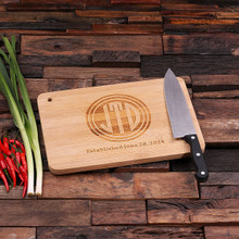 Groomsmen Bridesmaid Gift Bamboo Cutting Board – Family Seal, Monogram, Namesake (P00015)