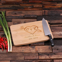 Groomsmen Bridesmaid Gift Bamboo Cutting Board – Family Seal, Monogram, Namesake (P00010)