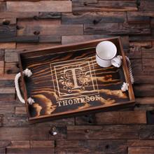 Groomsmen Bridesmaid Gift Engraved Wood Serving Tray