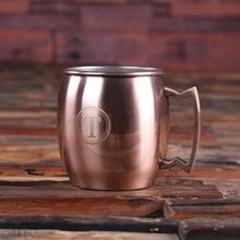 Groomsmen Bridesmaid Gift Moscow Mule Mug with Beautifully Shaped Handle